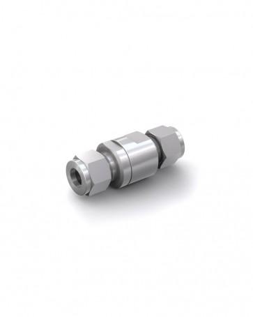 Rückschlagventil Edelstahl - Klemmring Rohr Ø 10 mm / Klemmring Rohr Ø 10 mm - max. 150 bar - DN 6 mm