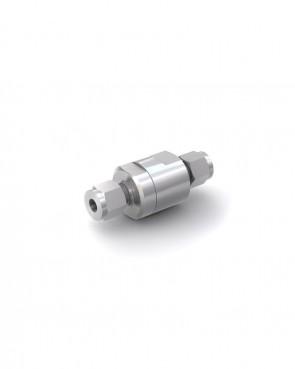 Rückschlagventil Edelstahl - Klemmring Rohr Ø 6 mm / Klemmring Rohr Ø 6 mm - max. 350 bar - DN 5 mm