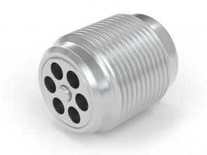 "Einschraubventil Edelstahl - AG G3/8"" / AG G 3/8"" - max. 250 bar - DN 7 mm"